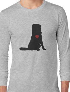 Australian Shepherd Silhouette Long Sleeve T-Shirt