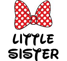 Little Sister Cute Minnie Photographic Print