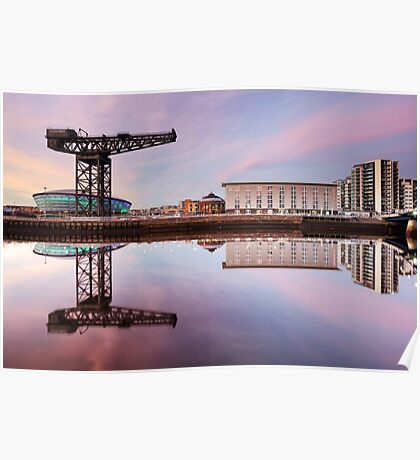 Clyde waterfront reflection at Sunset Poster