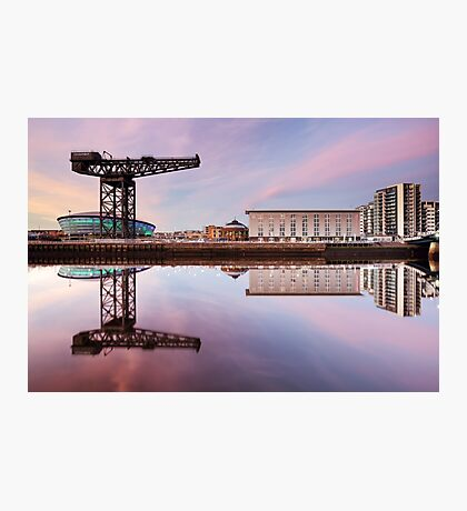 Clyde waterfront reflection at Sunset Photographic Print