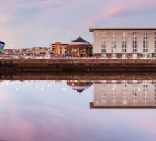 Clyde waterfront reflection at Sunset Sticker
