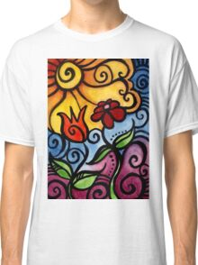 Colorful Summer Sun Flowers Classic T-Shirt