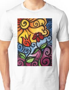 Colorful Summer Sun Flowers Unisex T-Shirt