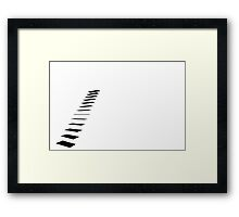 Minimalist Staircase to No Where Framed Print