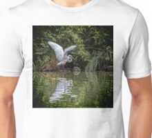 Egret Hunting for Lunch Unisex T-Shirt