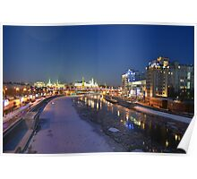 Kremlin on the Moscow River Poster