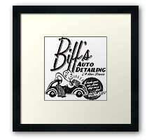 Biffs Auto Detailing Framed Print