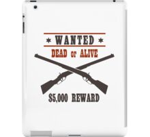 Vintage Wanted Western Poster iPad Case/Skin