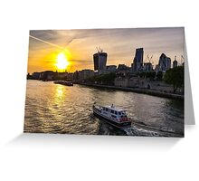 Sunset from Tower Bridge Greeting Card
