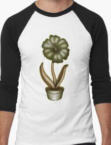 Flower & Pot I Men's Baseball ¾ T-Shirt