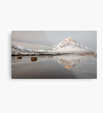 Mountain Reflection on the River Etive Metal Print