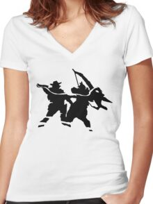 Mchanzo - no text Women's Fitted V-Neck T-Shirt