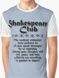 Shakespeare Club Graphic T-Shirt