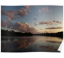Sunset on the Wisconsin River Poster
