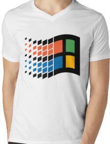 Windows 95 Logo Mens V-Neck T-Shirt