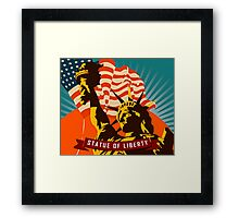 New York's Statue of Liberty Poster Tapestry Framed Print