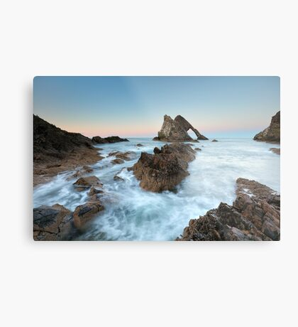 Sunset at Bow Fiddle Rock Metal Print