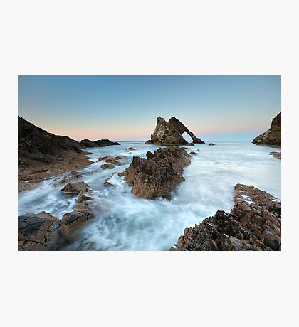 Sunset at Bow Fiddle Rock Photographic Print