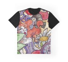 Colorful Watercolor and Ink Sketch Random Thoughts Graphic T-Shirt