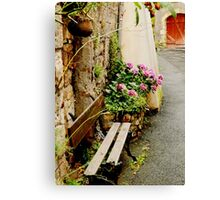 Broken bench Canvas Print