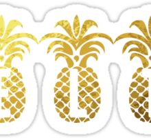 Gold Pineapples Delta Sticker
