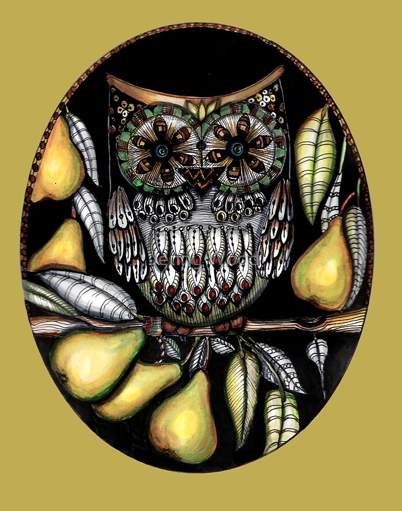 ...and an owl in a pear tree by Jenny Wood