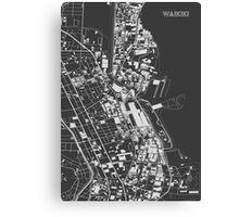 Waikiki in wireframe Canvas Print