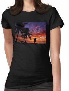 Sunset Fishing Womens Fitted T-Shirt