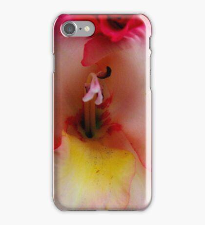 Gladiola - closeup iPhone Case/Skin