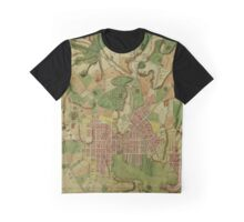 Map Of Baltimore 1801 Graphic T-Shirt