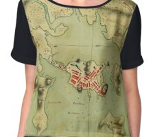 Map Of Boston 1776 Chiffon Top