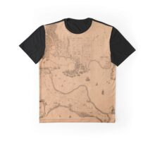 Map Of Baltimore 1792 Graphic T-Shirt