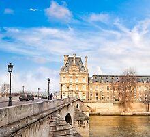 Le Pont Royal And The Pavillon de Flore - Paris River Seine by Mark Tisdale