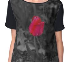 Lone Red Rose Chiffon Top