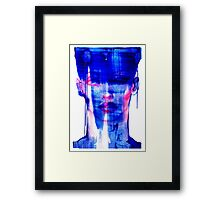 blue woman Framed Print