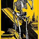 Skeleton with hour glass, As time goes by by monsterplanet