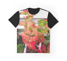 Red Leaves and Berries Graphic T-Shirt