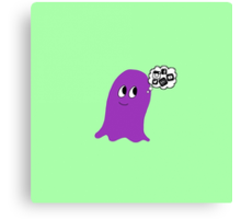 Purple Blob obsessed with Social Media.  Canvas Print