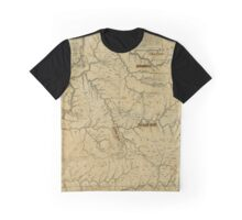 Map Of Kentucky 1784 Graphic T-Shirt