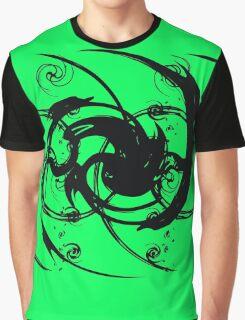 abstract art swirl tribal tattoo style Graphic T-Shirt