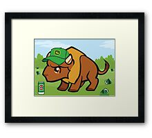 A Friendly Buffalo Framed Print