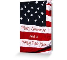 Merry Christmas Stars and Stripes Greeting Card