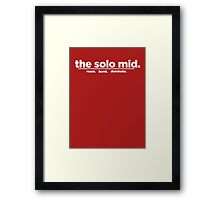 the solo mid. Framed Print