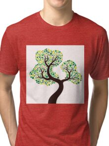 Colorful tree, colouring art Tri-blend T-Shirt