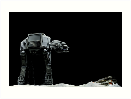 Lego AT-AT and Speeder by Kevin  Poulton - aka 'Sad Old Biker'