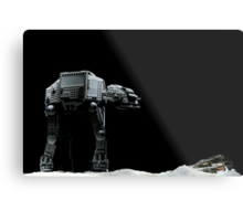 Lego AT-AT and Speeder Metal Print