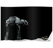 Lego AT-AT and Speeder Poster