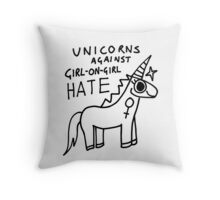 Unicorns Against Hate Throw Pillow