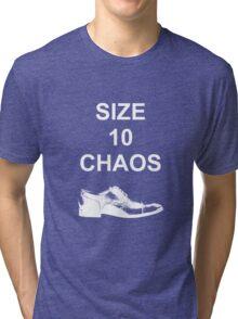 Size 10 Chaos (White) Tri-blend T-Shirt