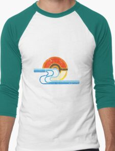 Monster Ball Beach Tee Men's Baseball ¾ T-Shirt